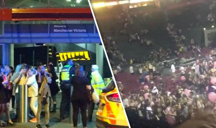 BREAKING: Manchester Arena - People flee Ariana Grande concert after reports of loud bangs (22 Dead, 59 Injured)