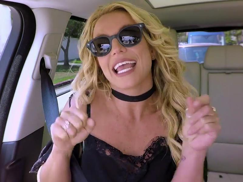 Britney Spears Recreates Her Iconic 'Baby One More Time' Video with James Corden on Carpool Karaoke