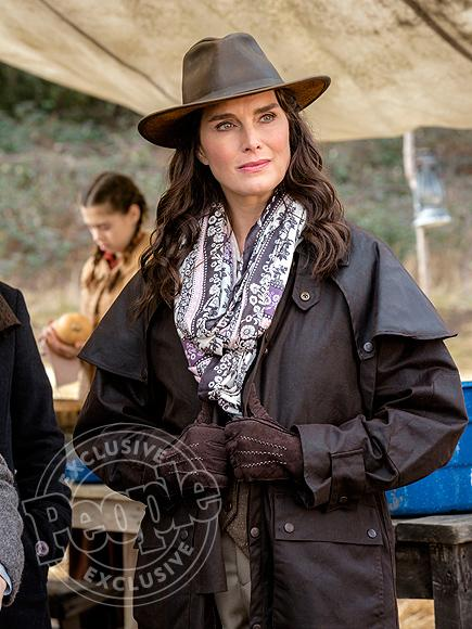 Brooke Shields Goes Full Frontier Woman in Guest Appearance