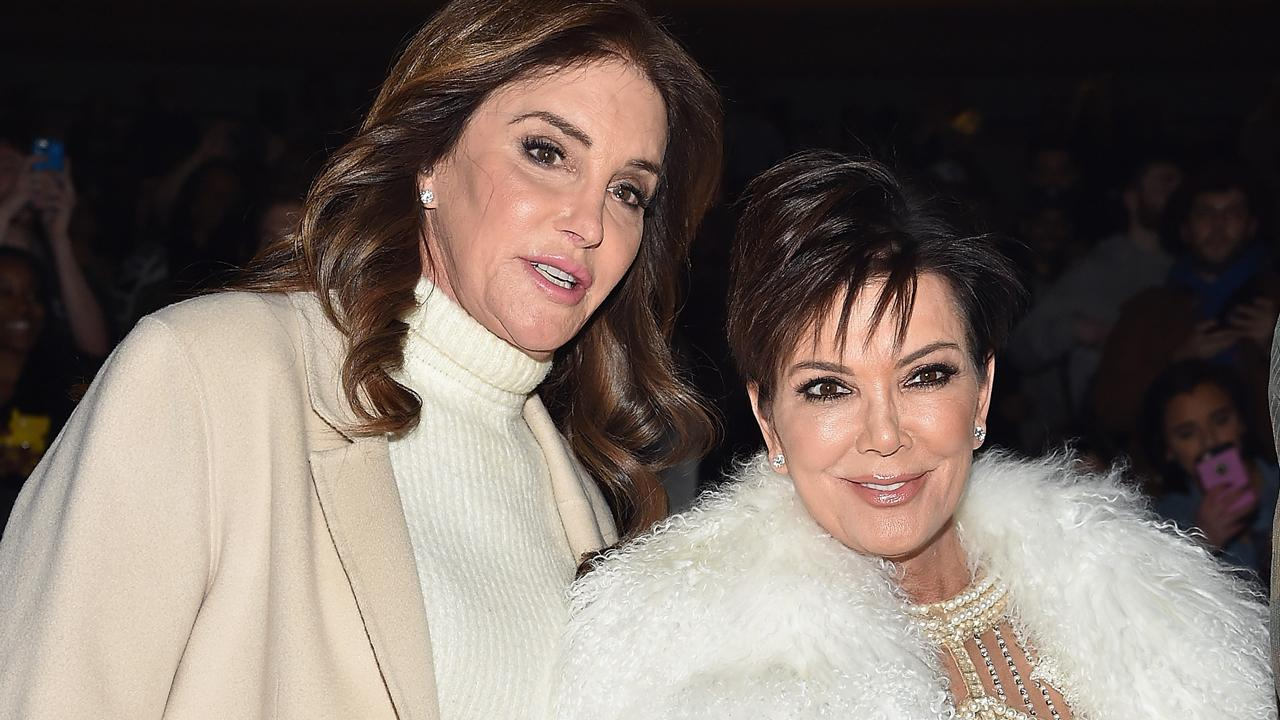 Caitlyn and Kris Jenner Rock Matching Red Dresses at Annual Family Christmas Party