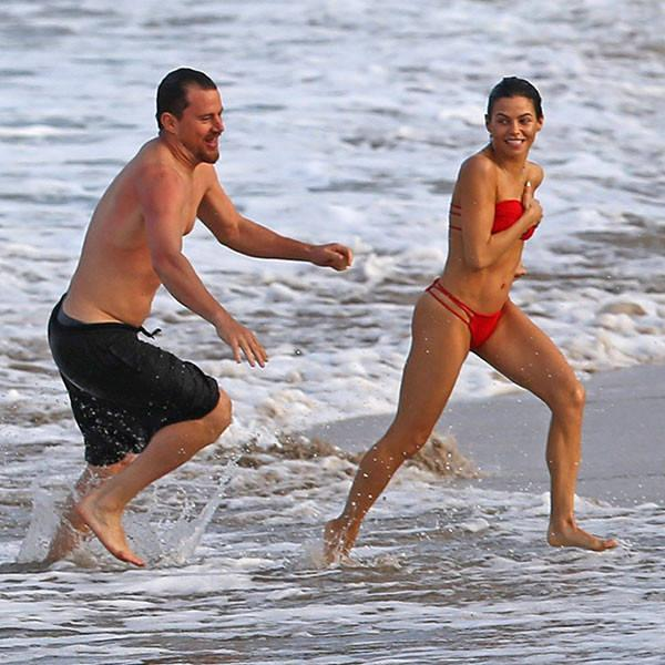 Channing Tatum and Jenna Dewan-Tatum Hit the Beach During Pda-Filled Hawaiian Vacation