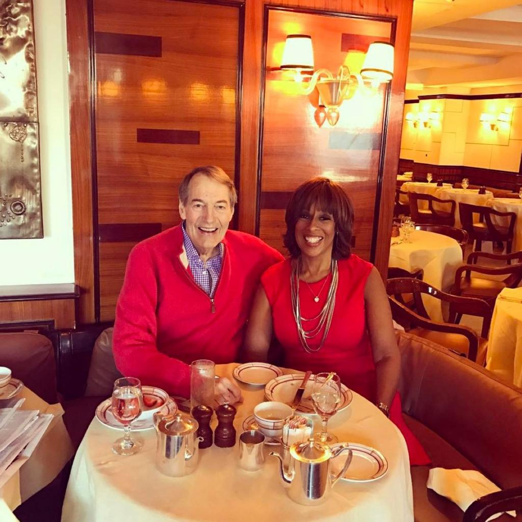 Charlie Rose Is All Smiles with Gayle King Just 11 Days After Heart Surgery