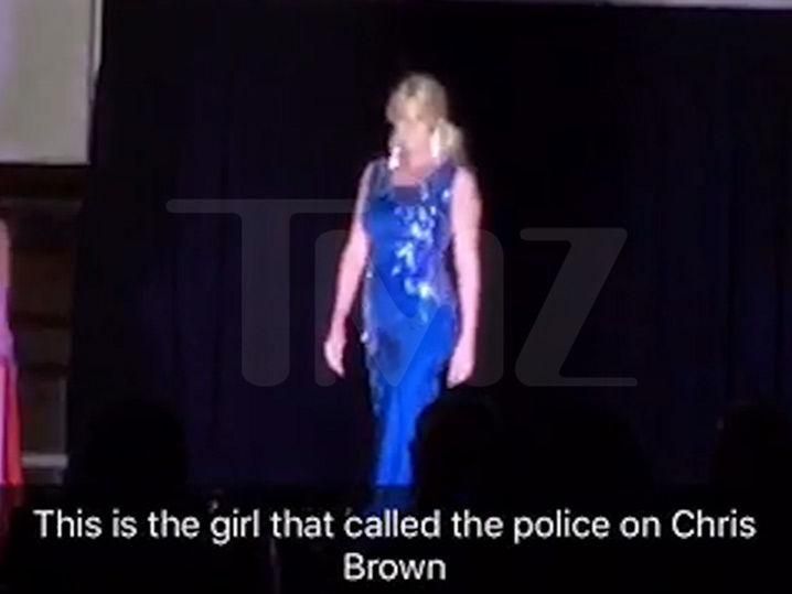 Chris Brown Accuser -- Beauty Pageant Struts to Chris Brown's Hit Song! (Video + Photos)