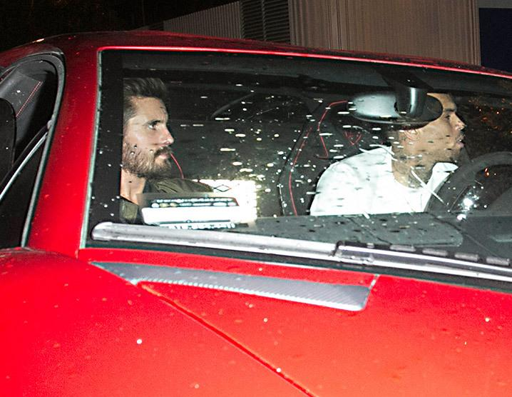 Chris Brown & Scott Disick -- We're Keeping Each Other Sober