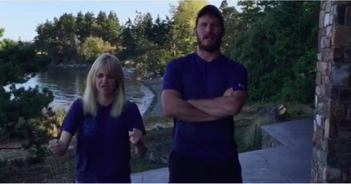 Chris Pratt and Anna Faris Do 22 Push-Ups For a Good Cause