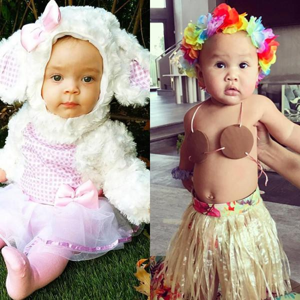 Chrissy Teigen and Coco Tease More Adorable Costumes for Their Daughters' First Halloween