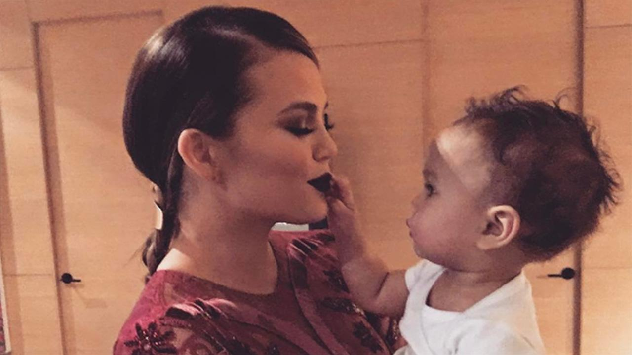 Chrissy Teigen Goofs Off With Baby Luna on Snapchat After Revealing Postpartum Depression Battle