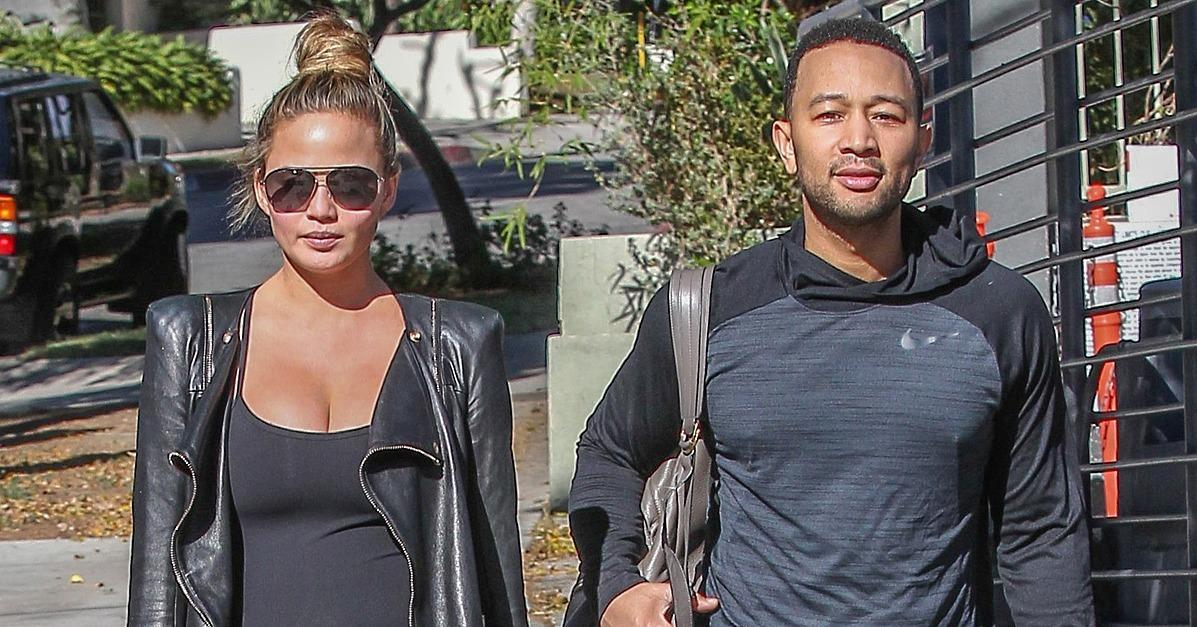 Chrissy Teigen Sports a Rosy Pregnancy Glow During a Shoppin
