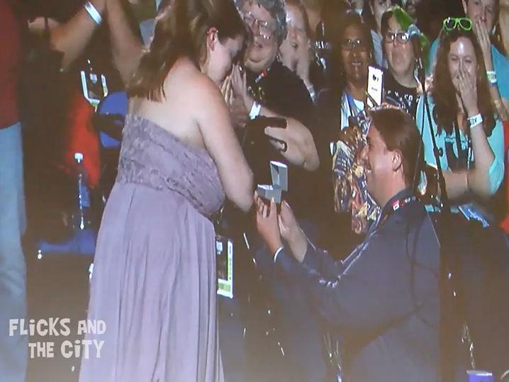 Comic-Con -- 'Supernatural' Proposal ... Couple Gets Cast Swag (Video)