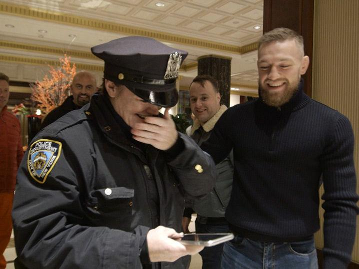 Conor McGregor -- NYPD Cop Loses Her Mind ... Holy Crap, It's Really You!!! (Video)