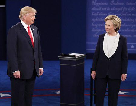 Donald Trump and Hillary Clinton Address Infamous Conversation With Billy Bush During Presidential Debate
