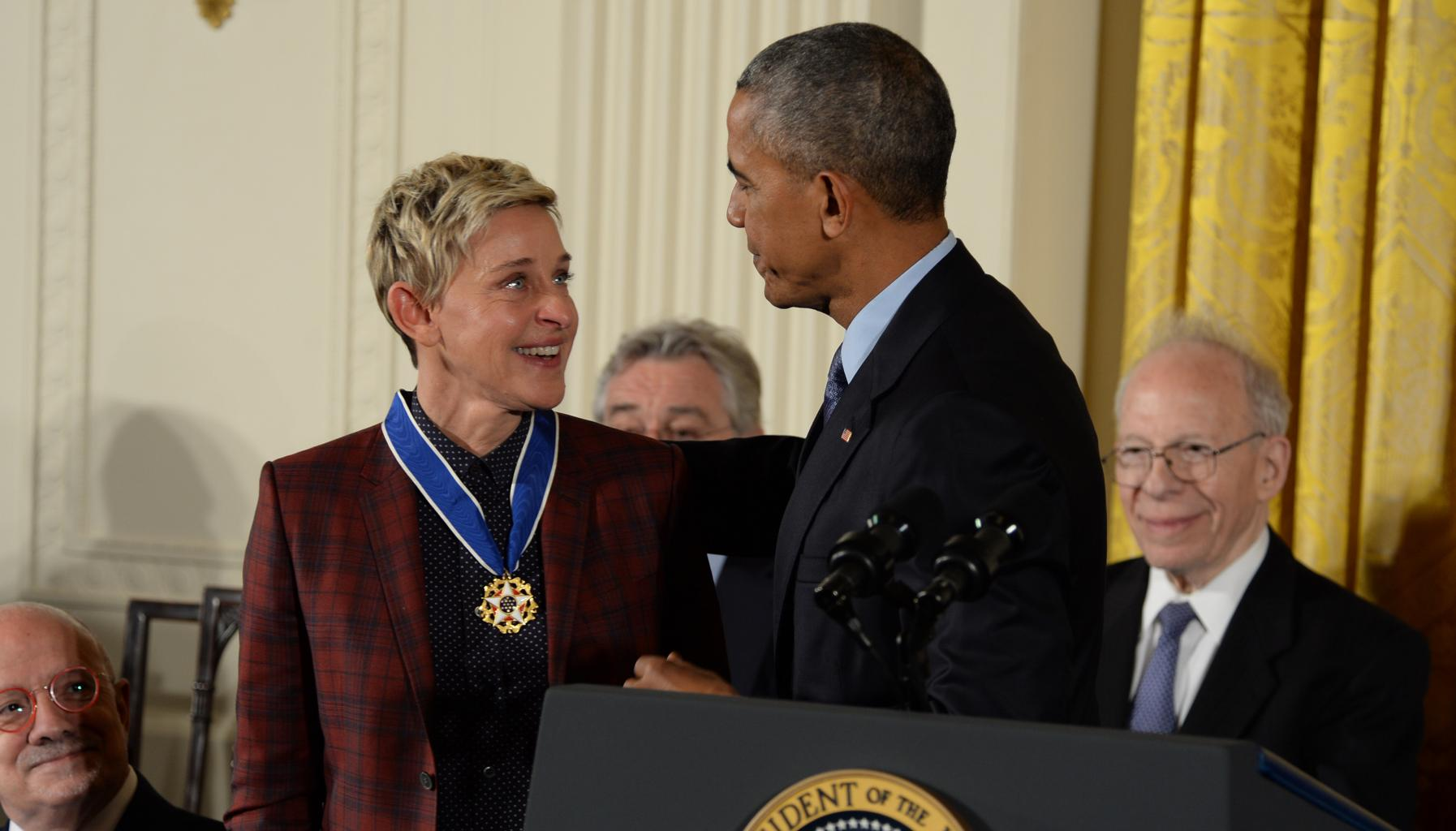 Ellen DeGeneres In Tears At White House, Plus More Heartwarming Moments From Presidential Medal of Freedom Ceremony