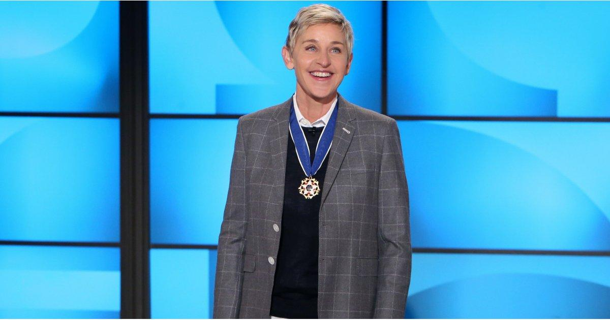 Ellen DeGeneres Looks So Proud While Showing Off Her Presidential Medal of Freedom