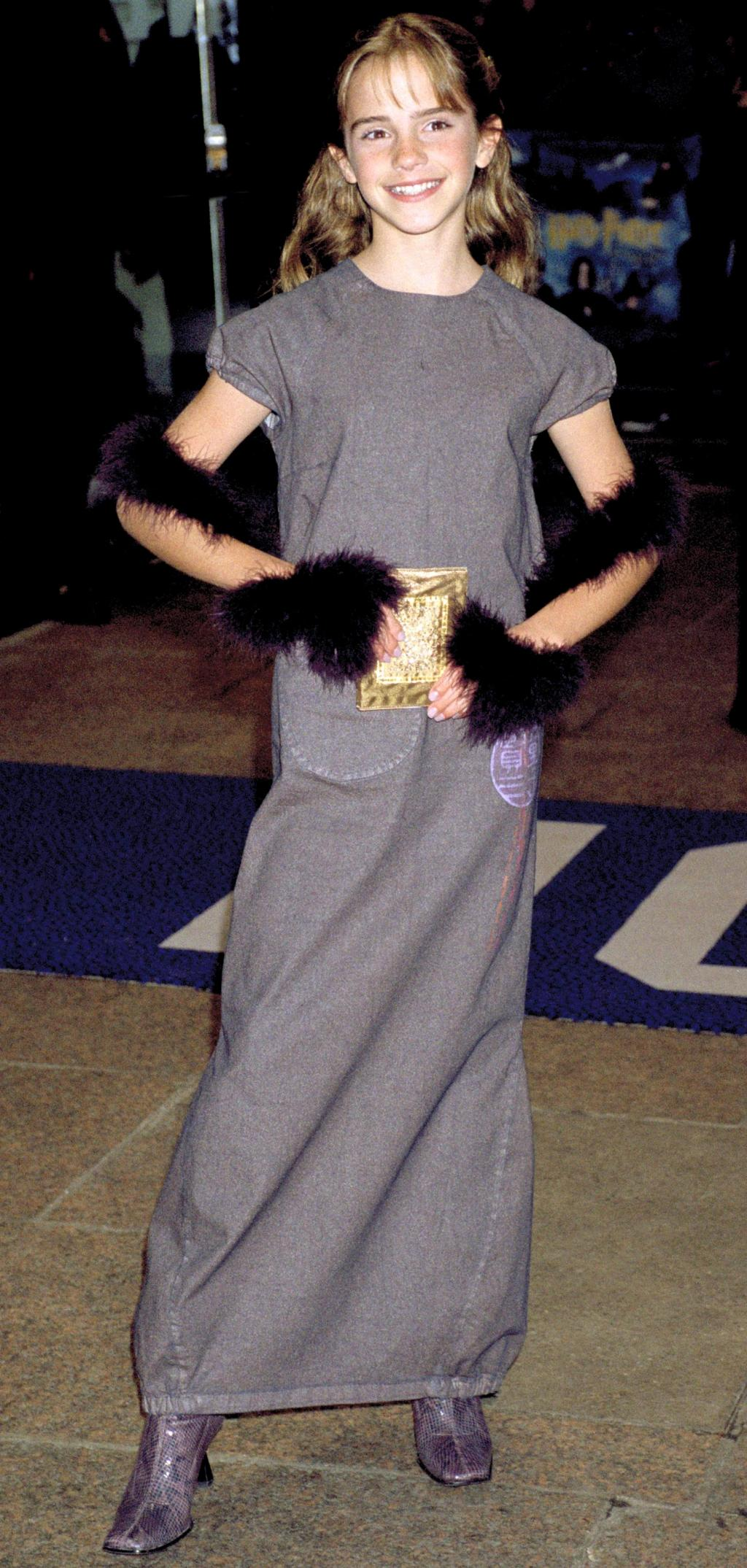 Emma Watson Cringes at Her First Movie Premiere Outfit from 2001:       'I Thought I Looked Amazing