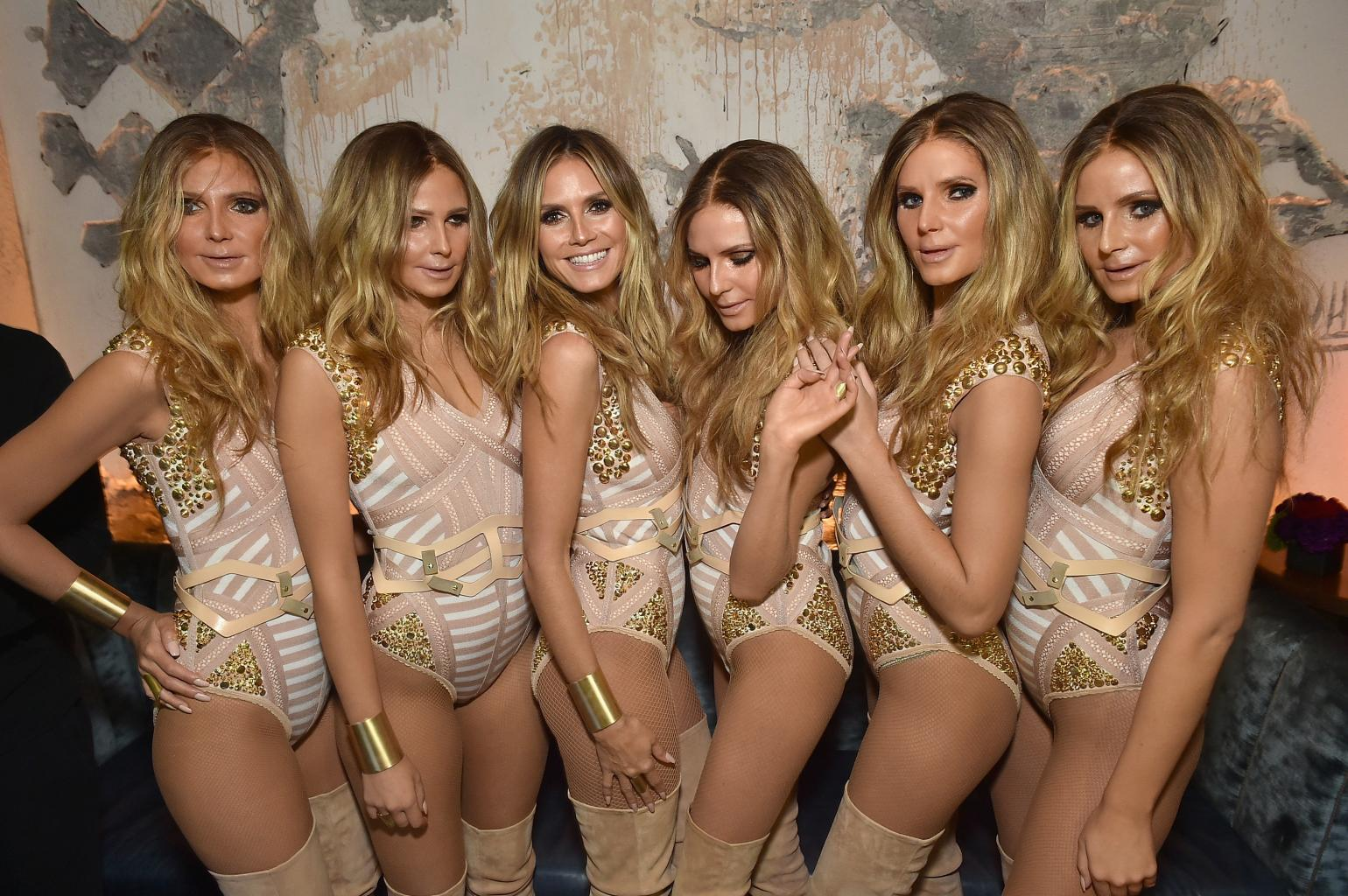 Exclusive: Heidi Klum  's Epic Halloween Costume Includes Five Prosthetically-Enhanced Klum-Clones