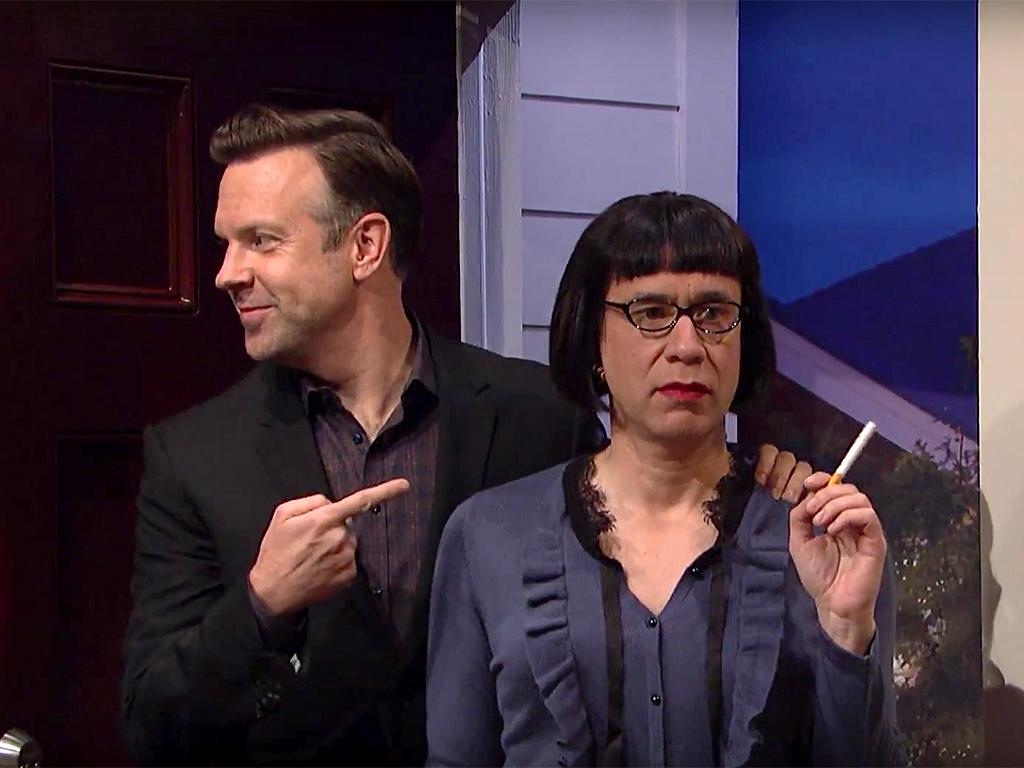 Fred Armisen Plays Jason Sudeikis' Freaky New Girlfriend in SNL Finale, Almost Causing Cast Member Aidy Bryant to Burst into Laughter