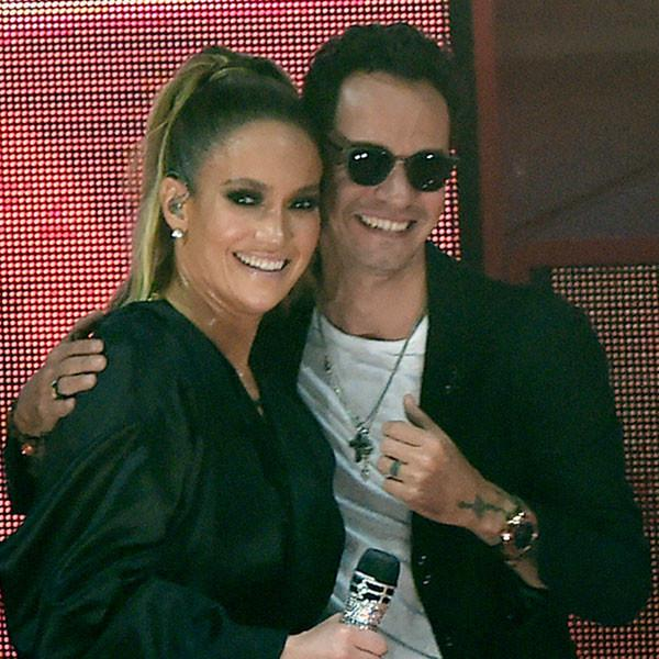 Friendly Exes Jennifer Lopez and Marc Anthony Reunite in Miami for Hillary Clinton Concert