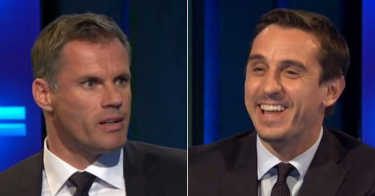 Gary Neville and Jamie Carragher reunion has Twitter erupting in delight