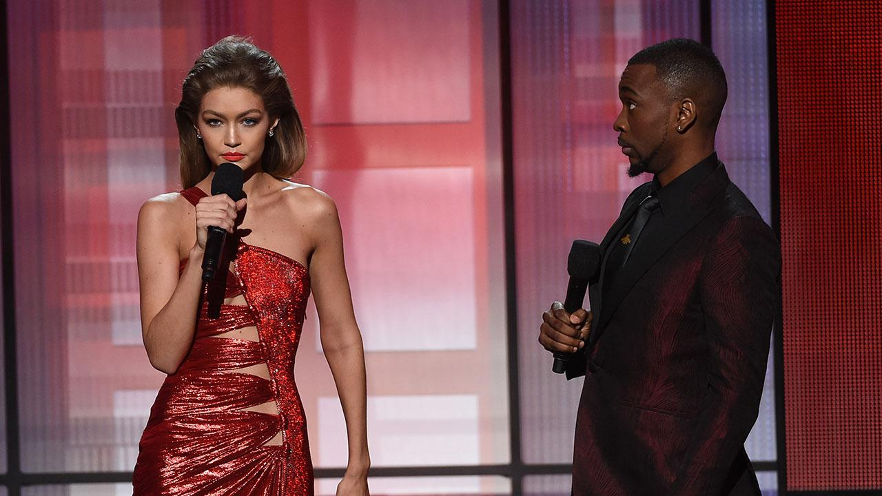Gigi Hadid Shows Off Her Melania Trump Impression -- See the Snarkiest Moments From Her AMAs Hosting Debut!