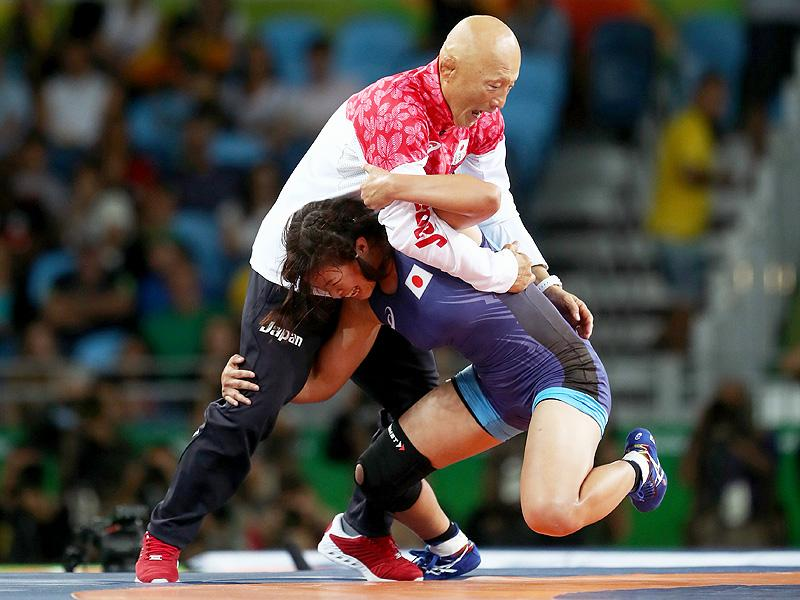 Grand Slam! Japanese Wrestler Risako Kawai Celebrates Gold by Throwing Coach on Mat After Win