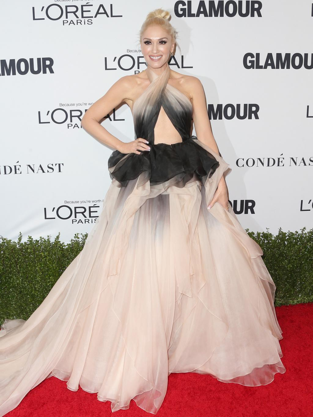 Gwen Stefani Stuns in Marchesa at Glamour Women of the Year Awards