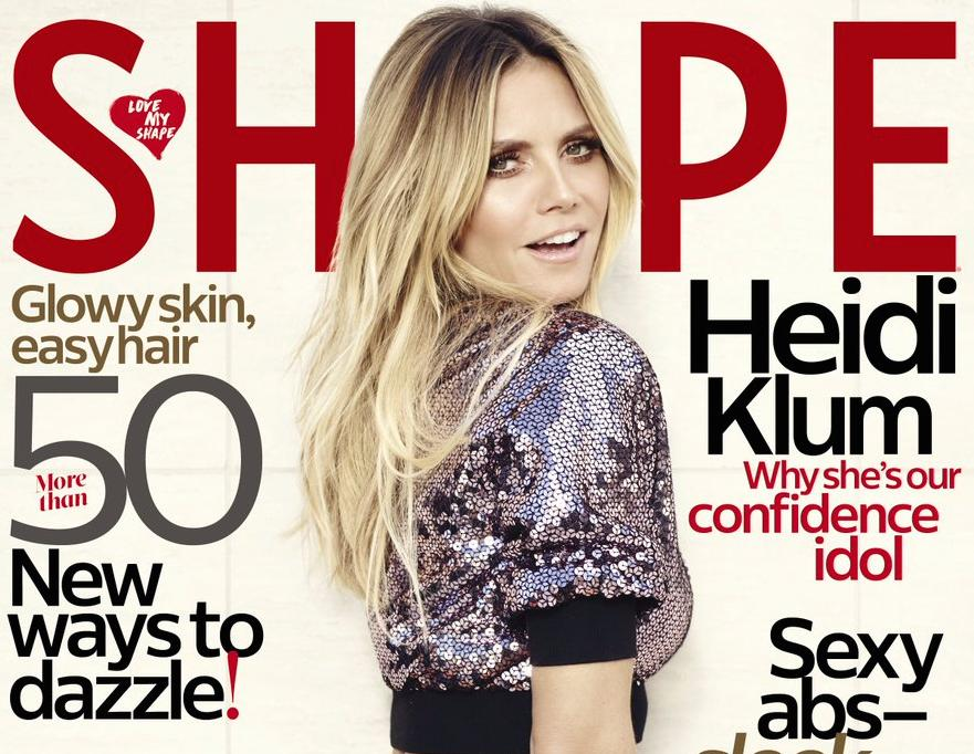 Heidi Klum Covers Shape Magazine, Talks Body Confidence And Embracing Her Stretch Marks