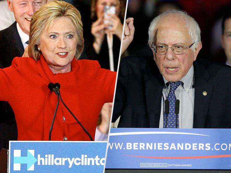 Hillary Clinton and Bernie Sanders Clash Over Gun Regulation