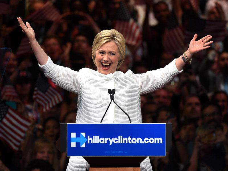 History Made: Hillary Clinton Declares Victory in Democratic Presidential Primary  and Becomes the First Major-Party Female Nominee