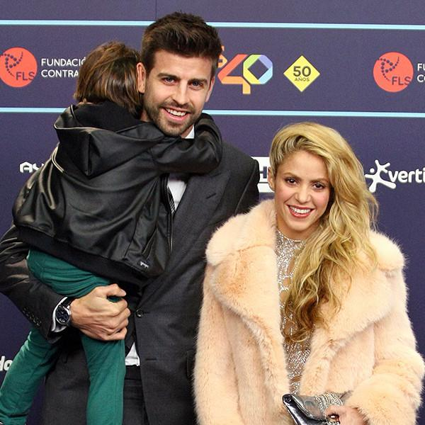 It's a Family Affair: Shakira, Gerard Piqu  '  and Sons attend Los40 Music Awards