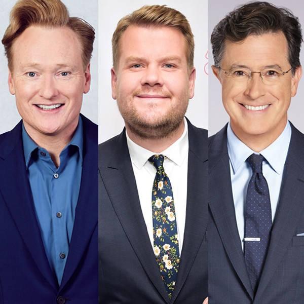 James Corden, Conan O'Brien and Stephen Colbert Try to Make Sense of Oscar Night's Best Picture Error