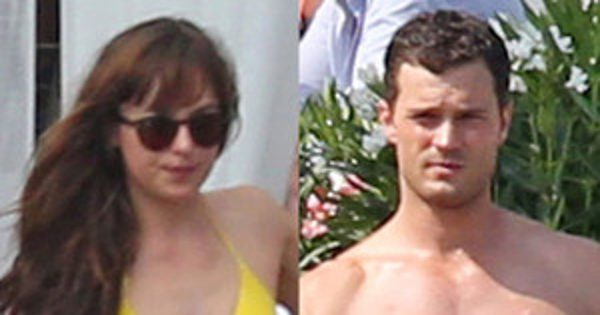 Jamie Dornan and Dakota Johnson Show Off Their Beach Bodies While Filming Fifty Shades Honeymoon Scene