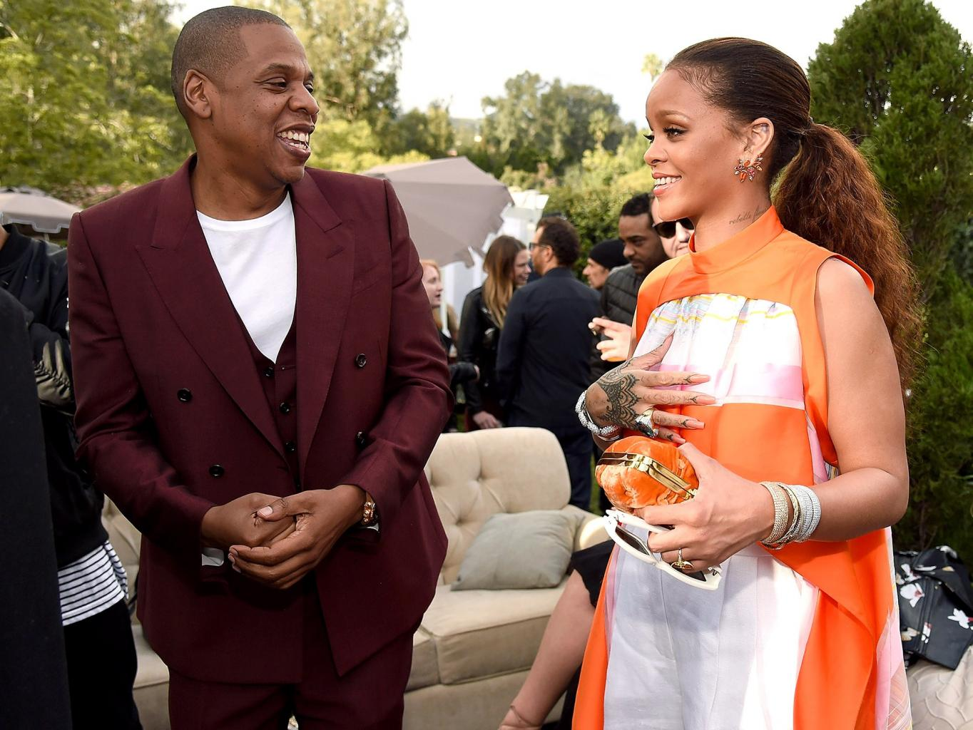 Jay Z Parties with Rihanna and Diddy in First Appearance Since Announcing Beyonc           's Expecting Twins