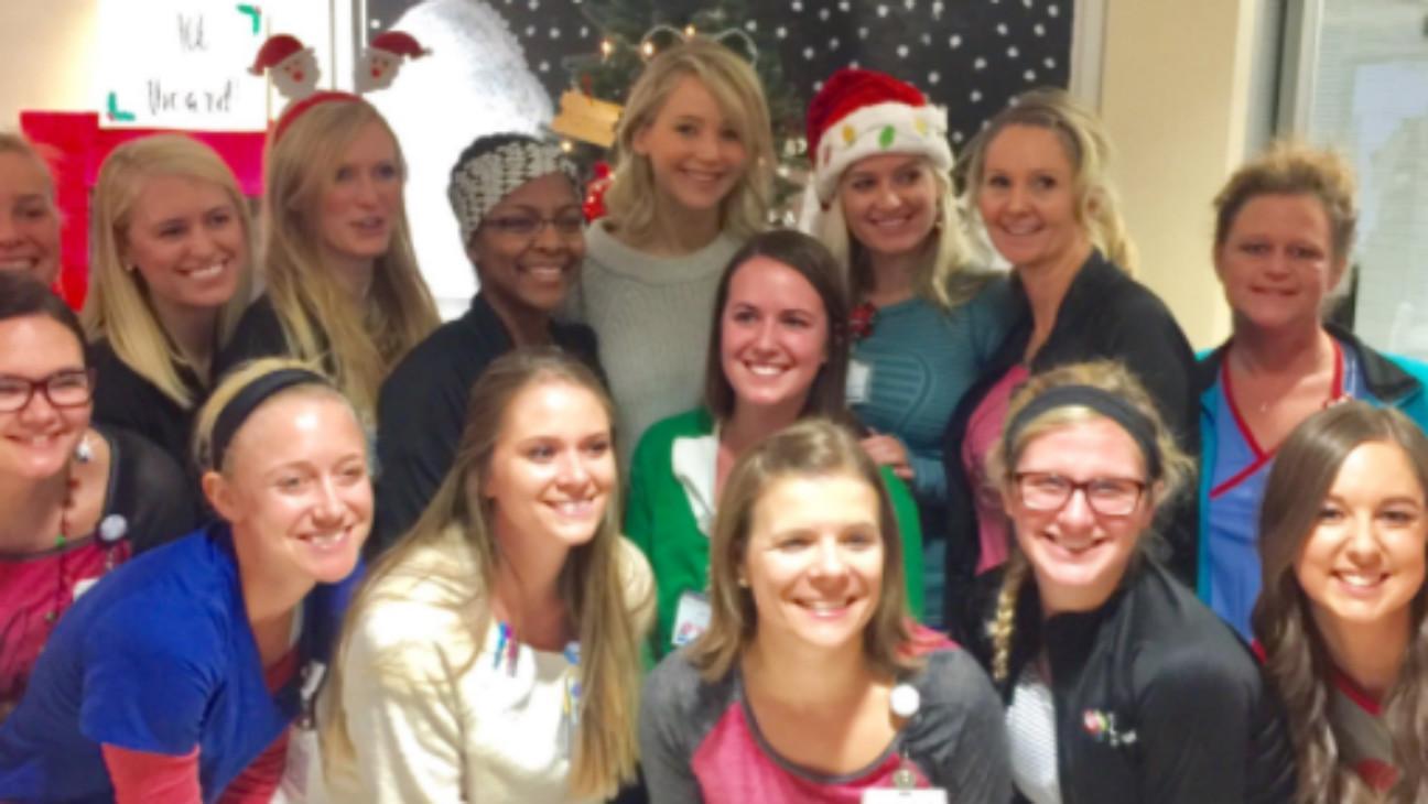 Jennifer Lawrence Pays Visit to Children's Hospital on Christmas Eve