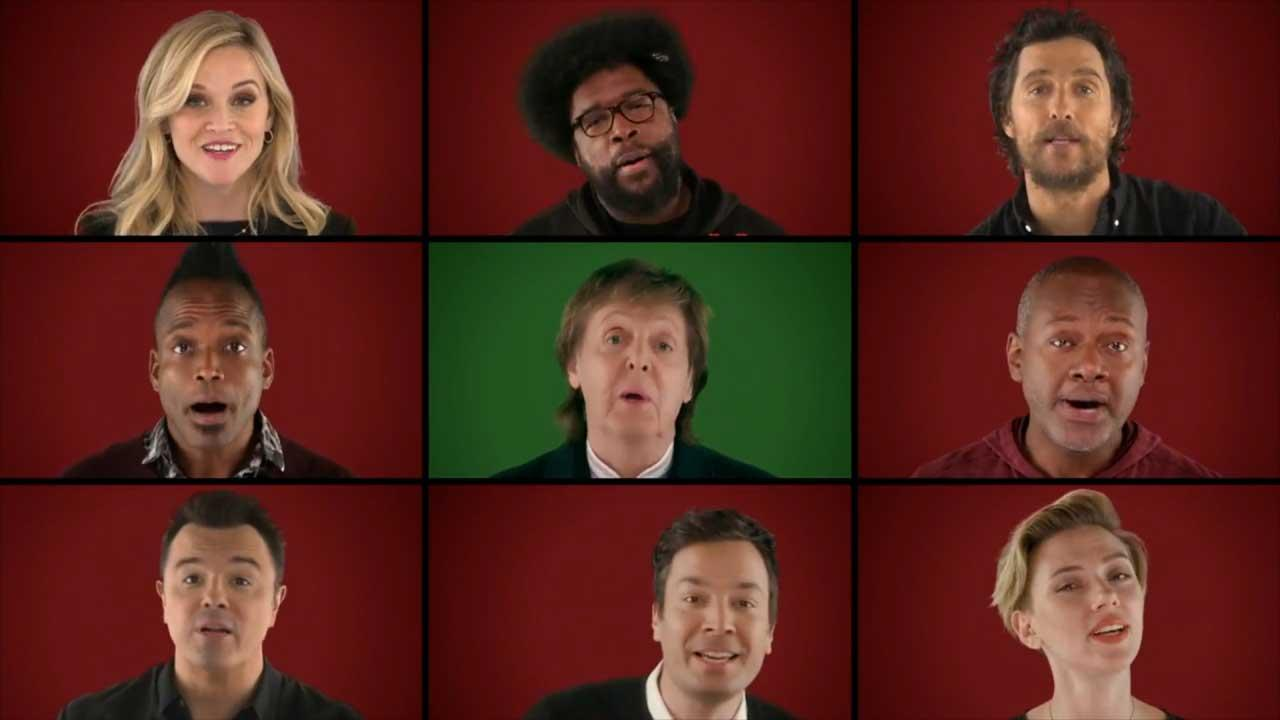 Jimmy Fallon Recruits Paul McCartney, Reese Witherspoon and the Stars of 'Sing' for a Fun Christmas Singalong