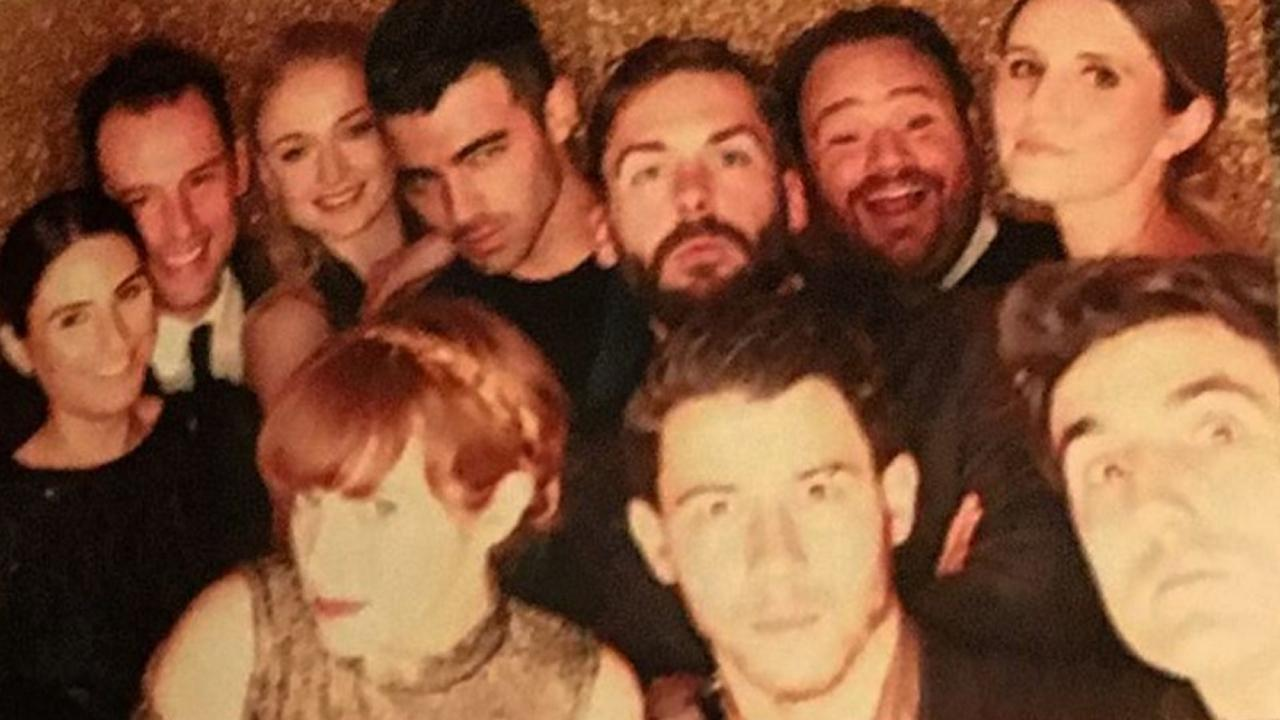 Joe Jonas and Sophie Turner Get Goofy at Friend's Malibu Wedding