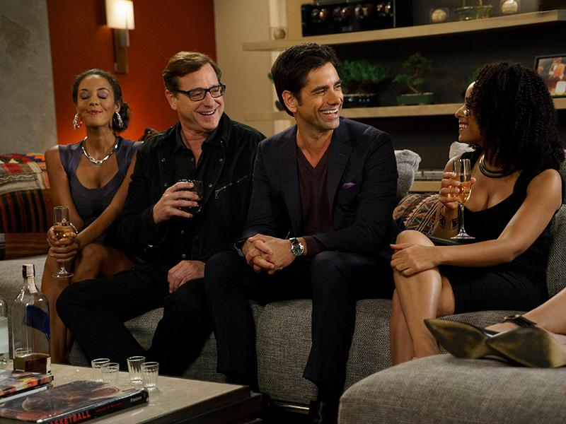 John Stamos and Bob Saget Have Mini Full House Reunion on Gr
