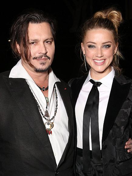 Johnny Depp Thanks Wife Amber Heard for 'Putting Up' with Hi