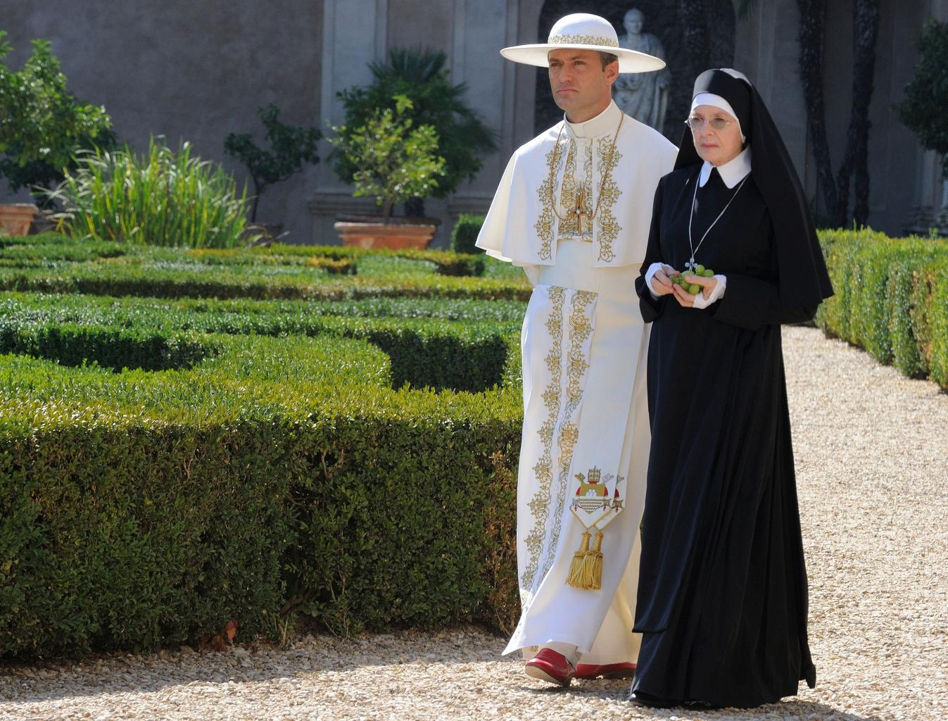 Jude Law and Diane Keaton Star as Sexy Pontiff and Spiritual Sidekick in HBO  's The Young Pope