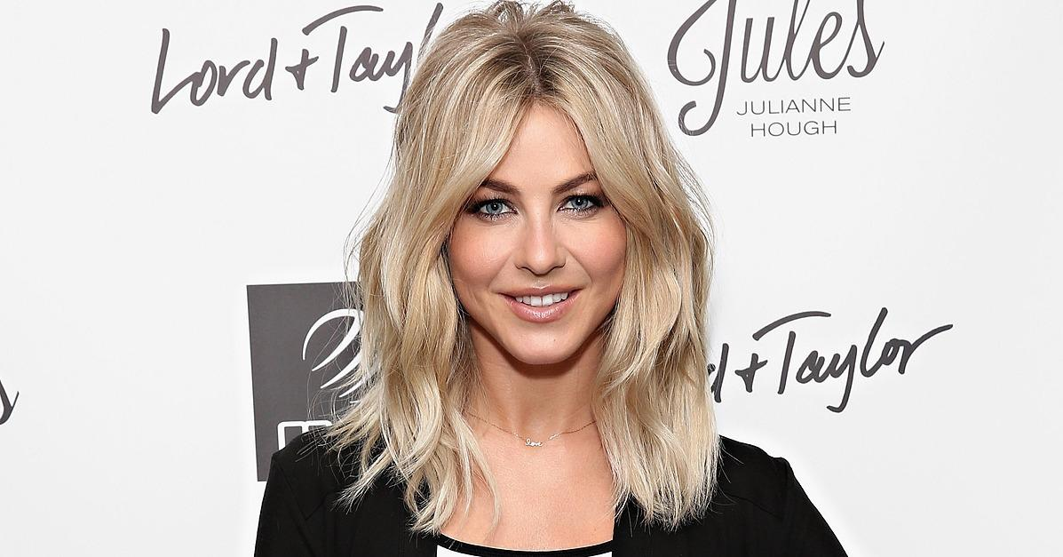 Julianne Hough Flashes Her Washboard Abs While Promoting Her