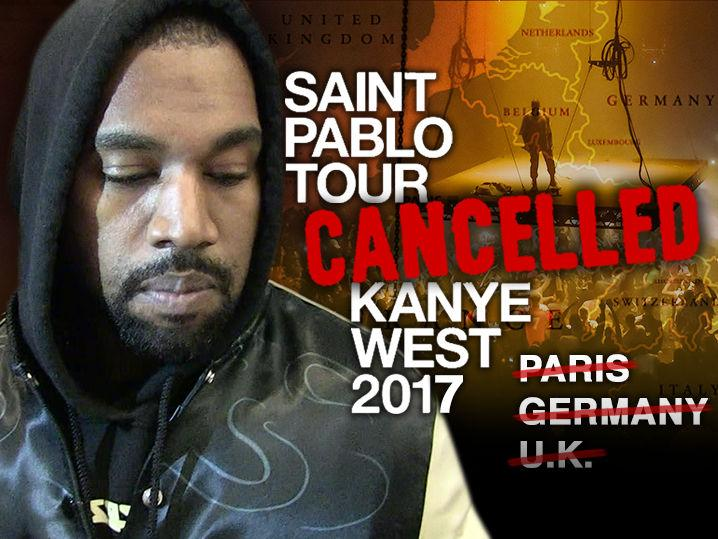 Kanye West's European Tour Cancelled