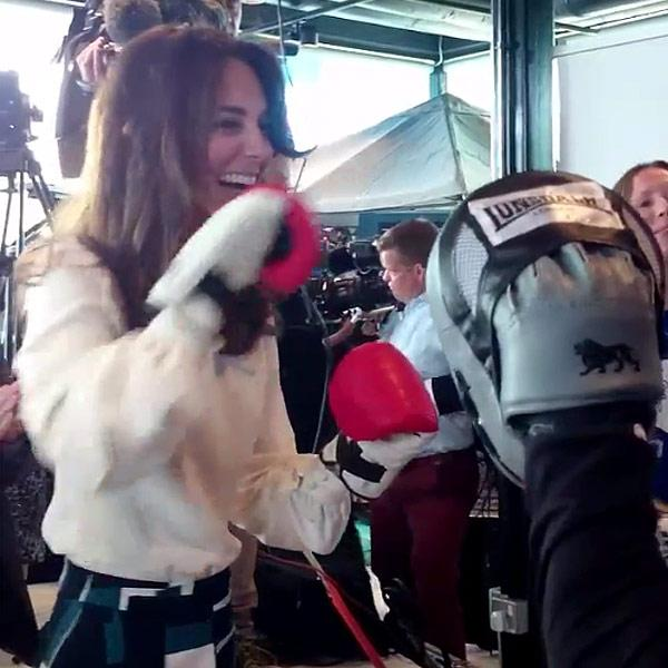 Kate's a Knockout! Princess Practices Her Punches at Mental Health Charity Even with Prince William and Prince Harry