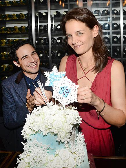 Katie Holmes Celebrates Birthday with Friends at a Dinner Pa