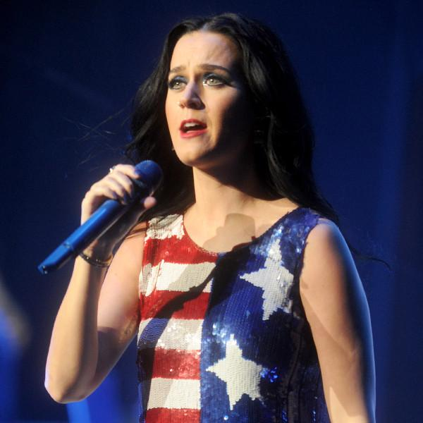 Katy Perry Gets Star, Spangled, Pumped Up During Hillary Clinton Campaign Concert