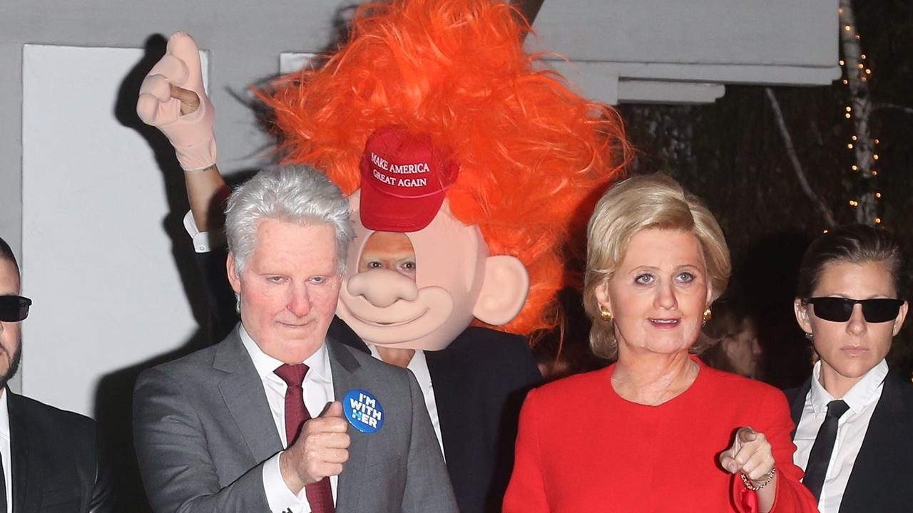 Katy Perry Goes Incognito as Hillary Clinton While Beau Orlando Bloom Sports Donald Trump Costume For Halloween