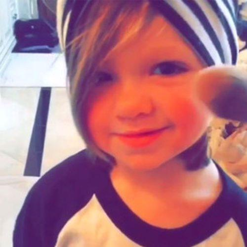 Kim Zolciak-Biermann Playfully Puts Makeup on 2-Year-Old Dau