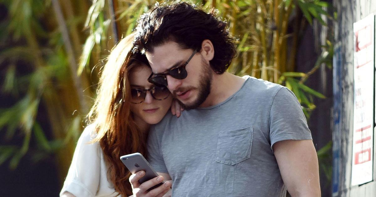 Kit Harington and Rose Leslie Kiss and Hold Hands During an