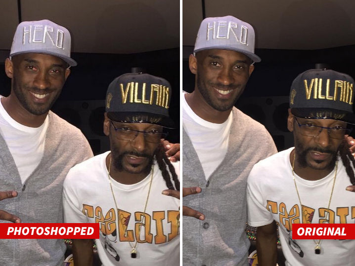 Kobe Bryant -- I Didn't Get High With Snoop ... I Got Photoshopped!!