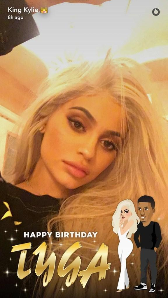 Kylie Jenner Celebrates Tyga's Birthday Early with Series of Sultry Selfies