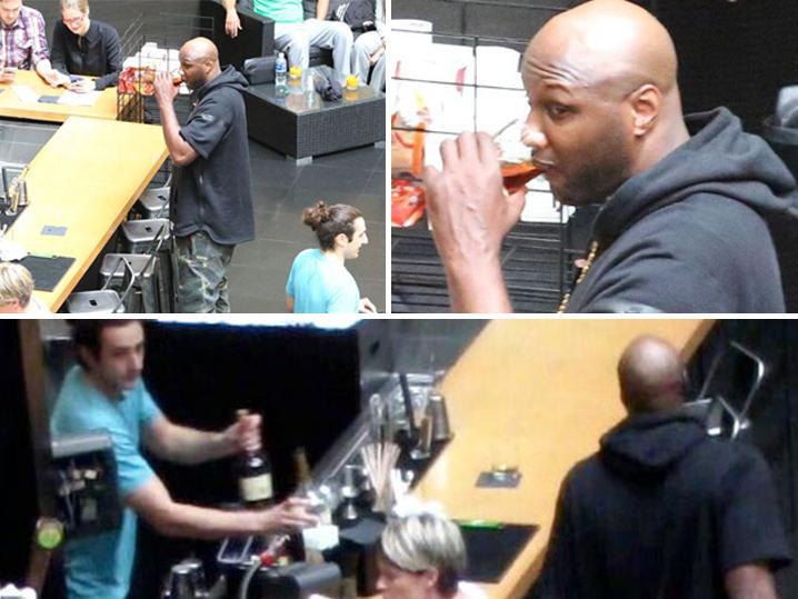 Lamar Odom -- Drinking Again (Photos)