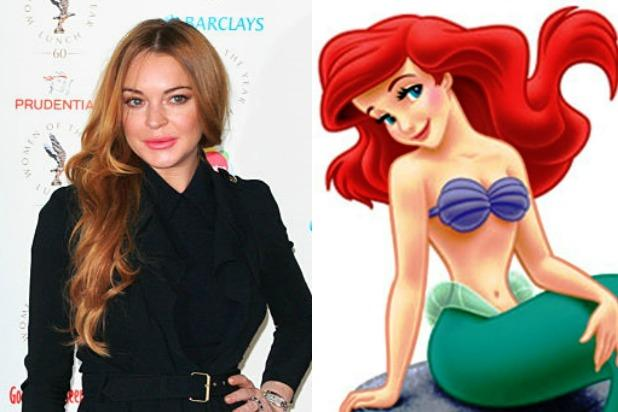 Lindsay Lohan Really, Truly and Desperately Wants to Play    Little Mermaid